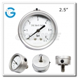 2.5 Bayonet ring central mount gauge of stainless steel