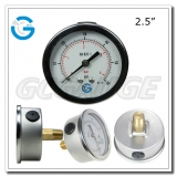 2.5 inch back connection crimped ring SS case brass internal gauges