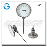 4 inch stainless steel waterproof  every angle bimetallic thermometers with probe