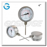 4 inch stainless steel bottom connection long stem inside bayonet bimetallic thermometers
