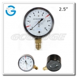 2.5 Capsule low black steel lower mount single diaphragm medical manometer