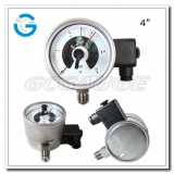 4 All stainless steel bottom connection explosion proof inductive electric contact pressure gauges