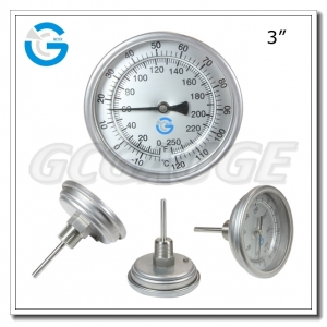 Bimetal thermometers with 3 inch
