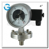 4 All stainless steel bottom connection diaphragm electric contact pressure gauges