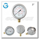 3 Capsule low stainless steel brass internal bottom connection bellows type pressure gauges