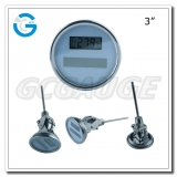 3 inch stainless steel adjustable crimped ring solar industry digital thermometers